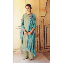 ERA - Jam Cotton Print Suit with Embroidery