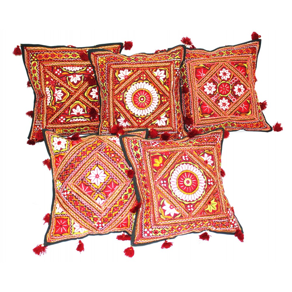 Antique Embroidered Handcrafted Cushion Covers