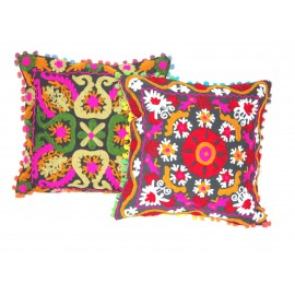 Suzani Embroidered Cushion Covers - Set of 7