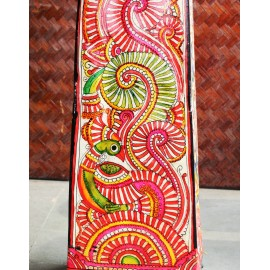 Andhra Leather Painted Standing Lamp